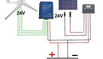 500W Wind Solar Power:AC 12V 400W Wind Turbine Generator Kit + 12V