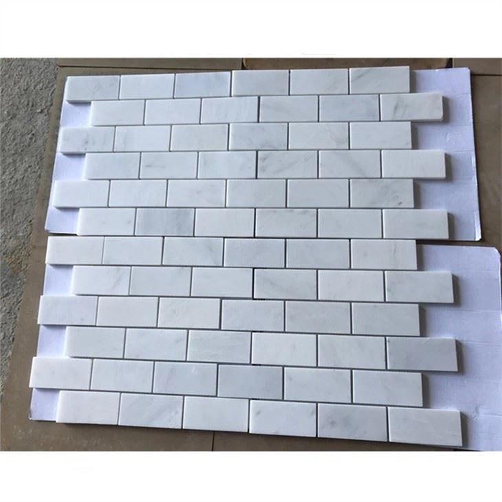 china carrara white marble brick mosaic
