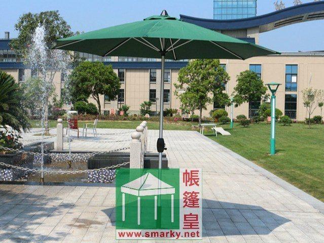 花園傘-2.7米鋁合金中柱花園傘-墨綠色
