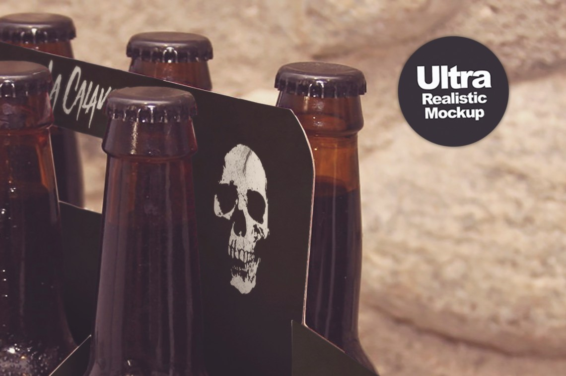 Mockups: 6 Pack Beer Box Mockup