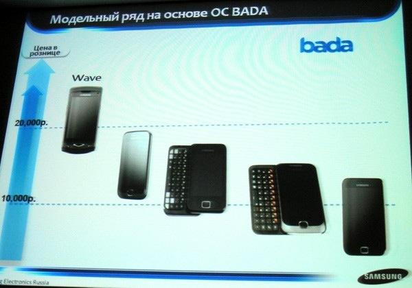 Samsung muestra cuatro samsung bada