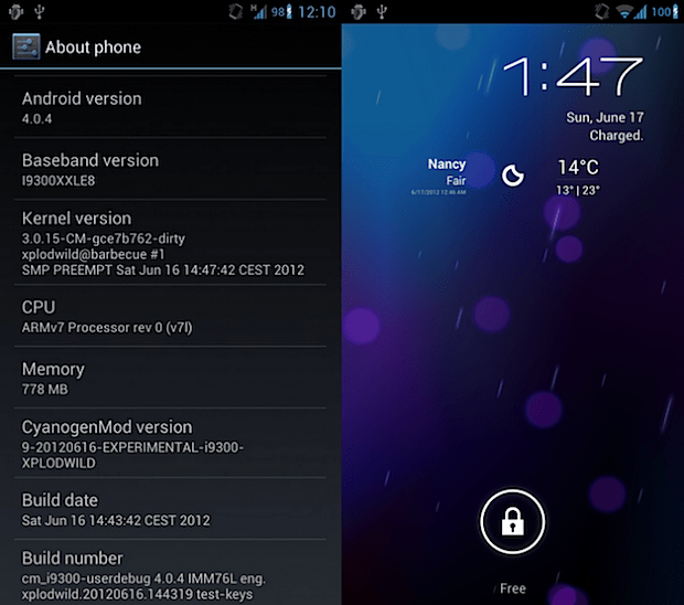 Galaxy S III CyanogenMod 9