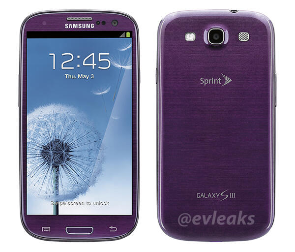 Galaxy S III Purpura