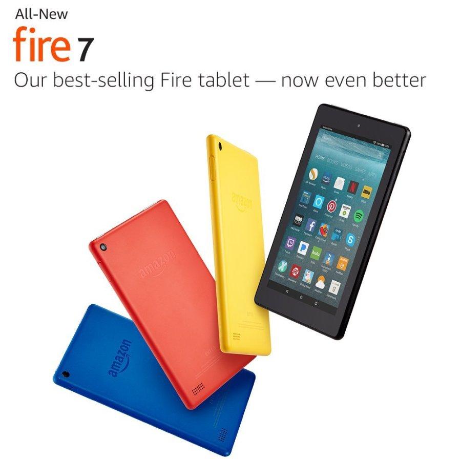 Amazon Fire 7 con especificaciones renovadas.