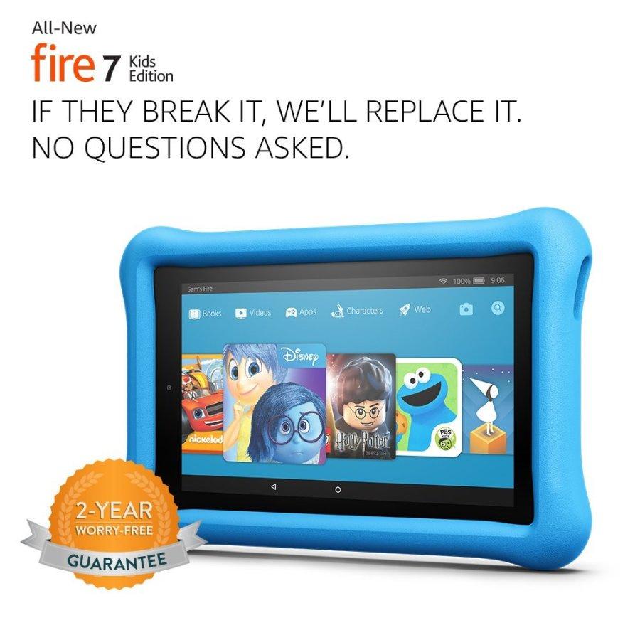 Amazon Fire 7 Kids Edition color azul.