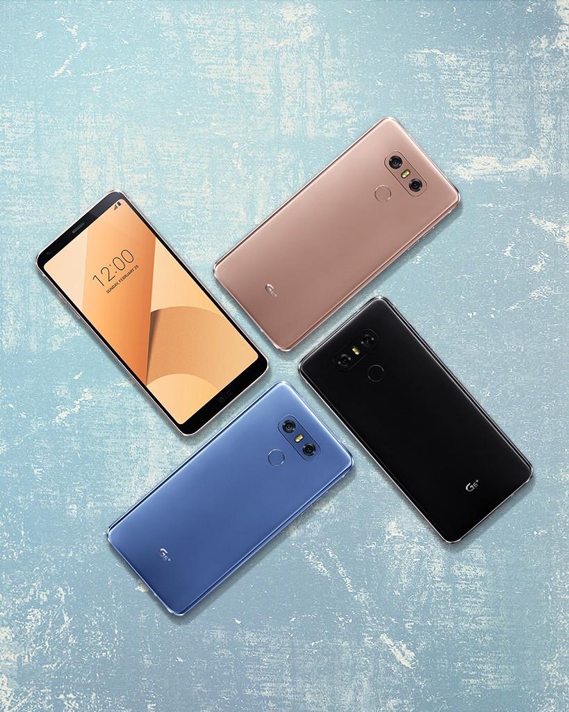 Ilustración oficial de los colores disponibles para el LG G6 Plus.