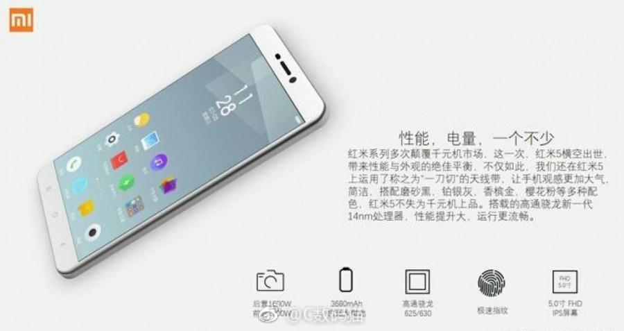 Frente del Xiaomi Redmi Note 5 gris claro.