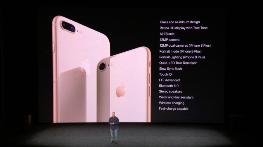 Coincidencias de características entre el iPhone 8 y el iPhone 8 Plus.