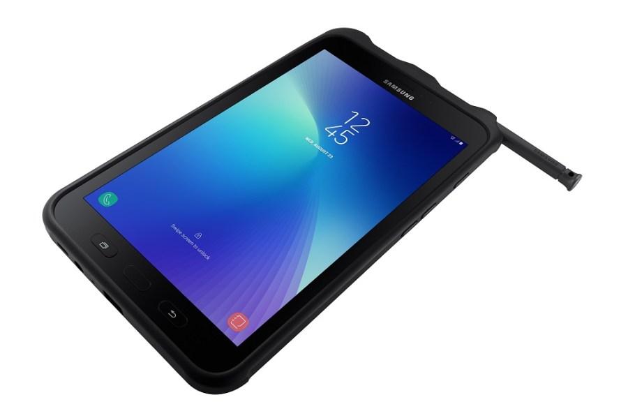 Render oficial del frente y lápiz inteligente de la Samsung Galaxy Tab Active 2.