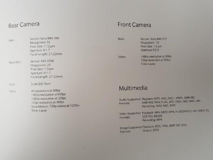 Tercera de cuatro fotografías que detallarían las características del OnePlus 5T.