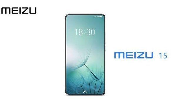 Render conceptual del supuesto frente del Meizu 15.