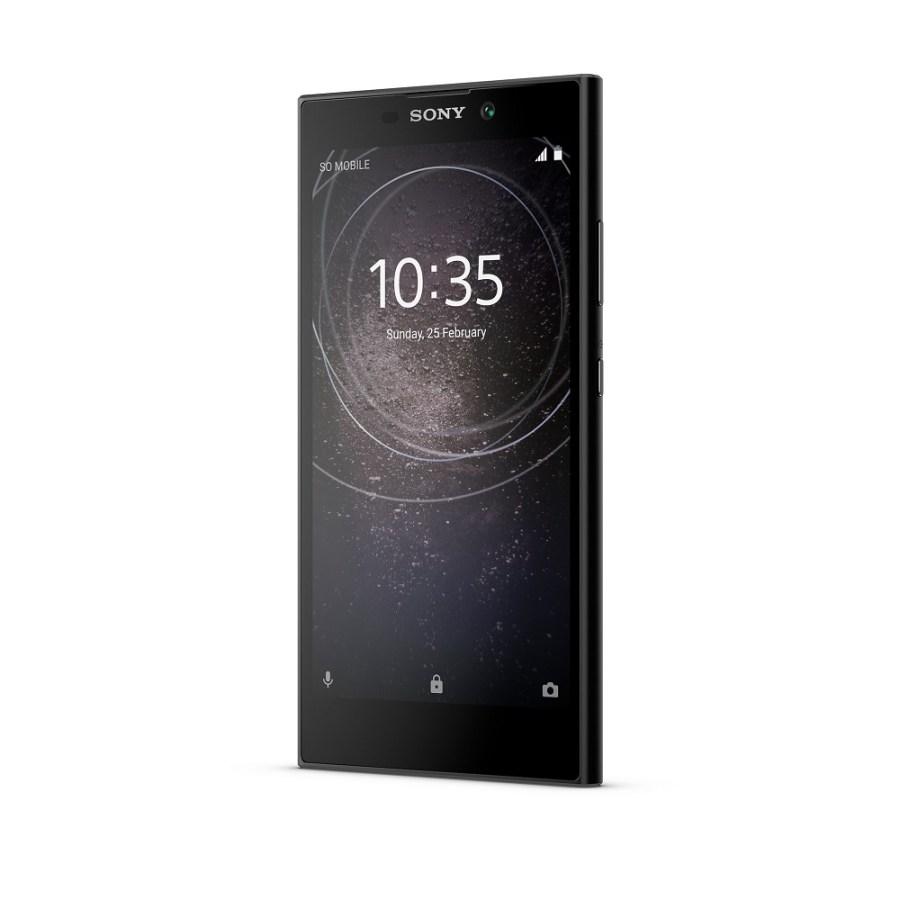 Render oficial del frente del Sony Xperia L2 color negro.