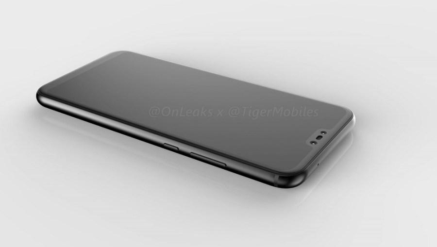 Captura del video CAD del Huawei P11/P20 Lite mostrando el recoveco frontal para la cámara dual.
