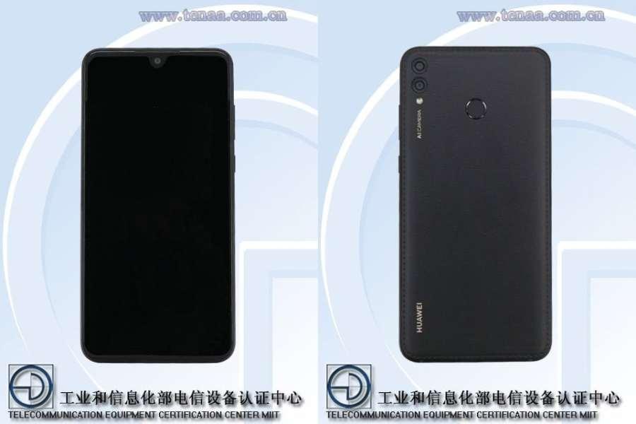 Render del frente y dorso del Huawei ARS-AL00 certificado por TENAA.