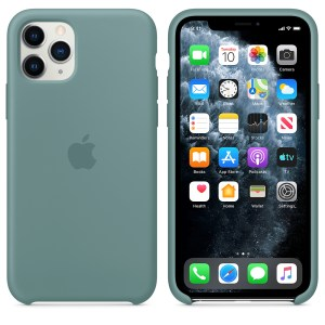 Husa de silicion originala Apple iPhone 11 Pro Cactus