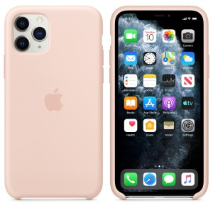 Husa de silicion originala Apple iPhone 11 Pro Pink Sand