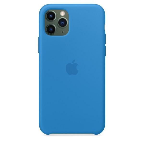 Husa de silicion originala Apple iPhone 11 Pro Surf Blue