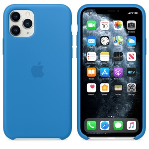 Husa de silicion originala Apple iPhone 11 Pro Surf Blue