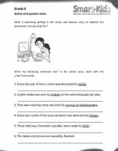 Grade also english worksheet active and passive voice smartkids rh smart kids
