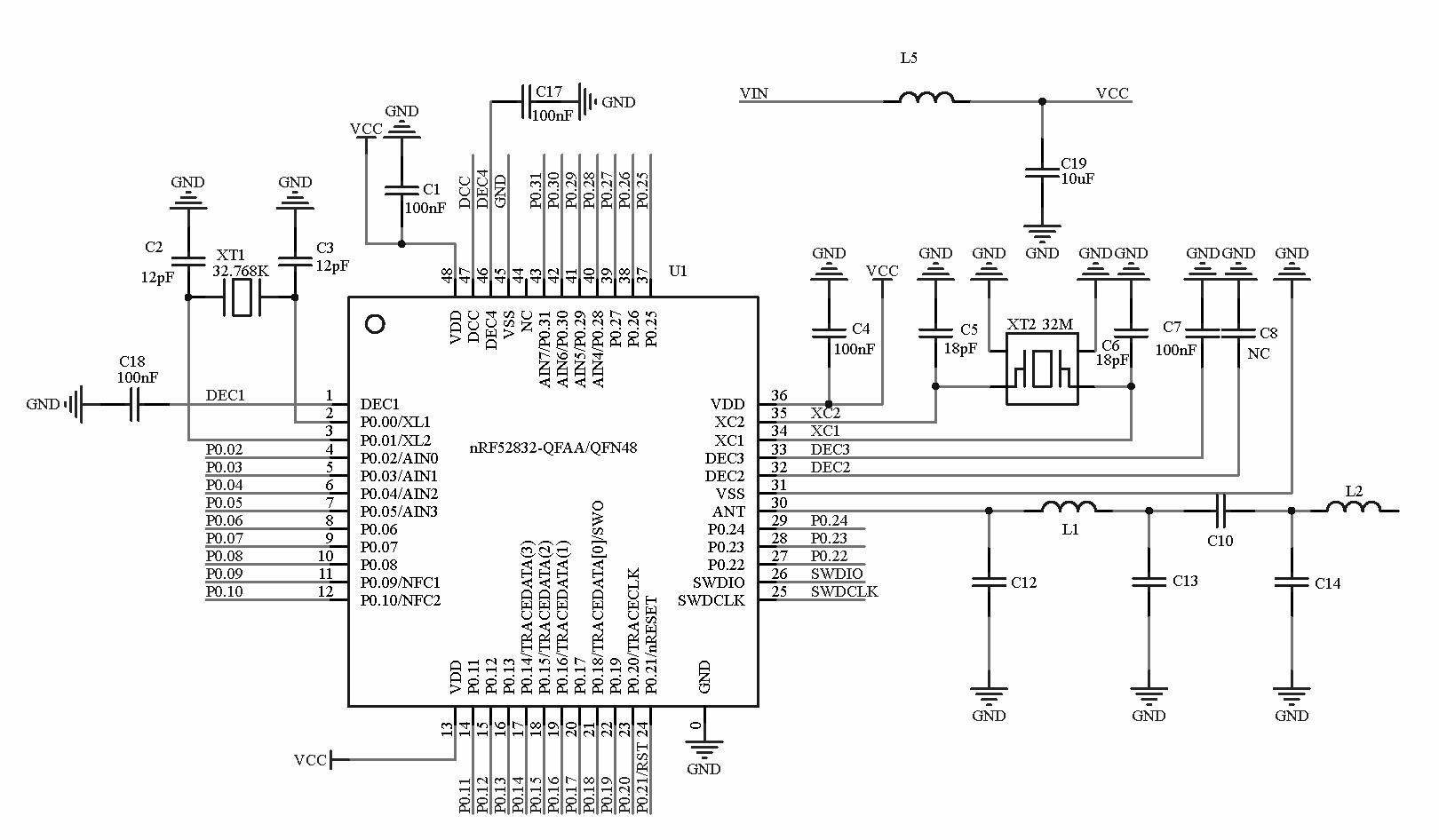 nrf52832 Bluetooth Module (CE, FCC, Half-Cut Hole) from