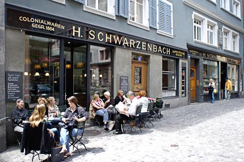 Schwarzenbach Kaffeerösterei + Teecafé in Zürich