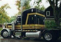 old semi trucks photo