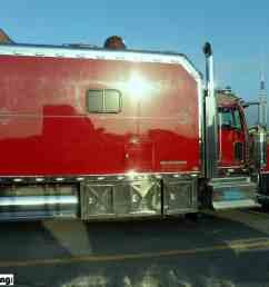 kenworth king size custom sleeper berth red [ 2048 x 1536 Pixel ]