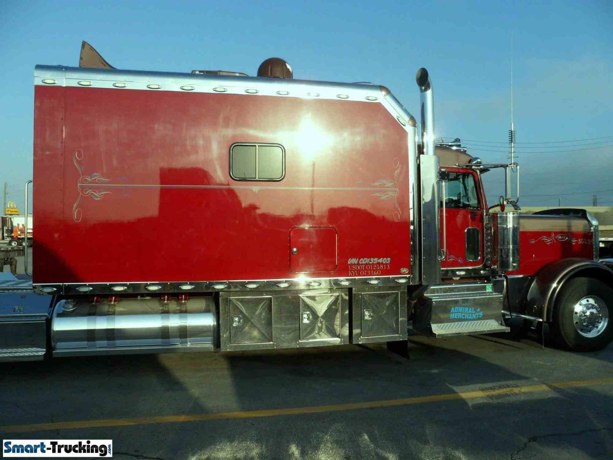 hight resolution of kenworth king size custom sleeper berth red