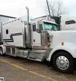 kenworth white custom w900 sleeper berth truck [ 2048 x 1536 Pixel ]