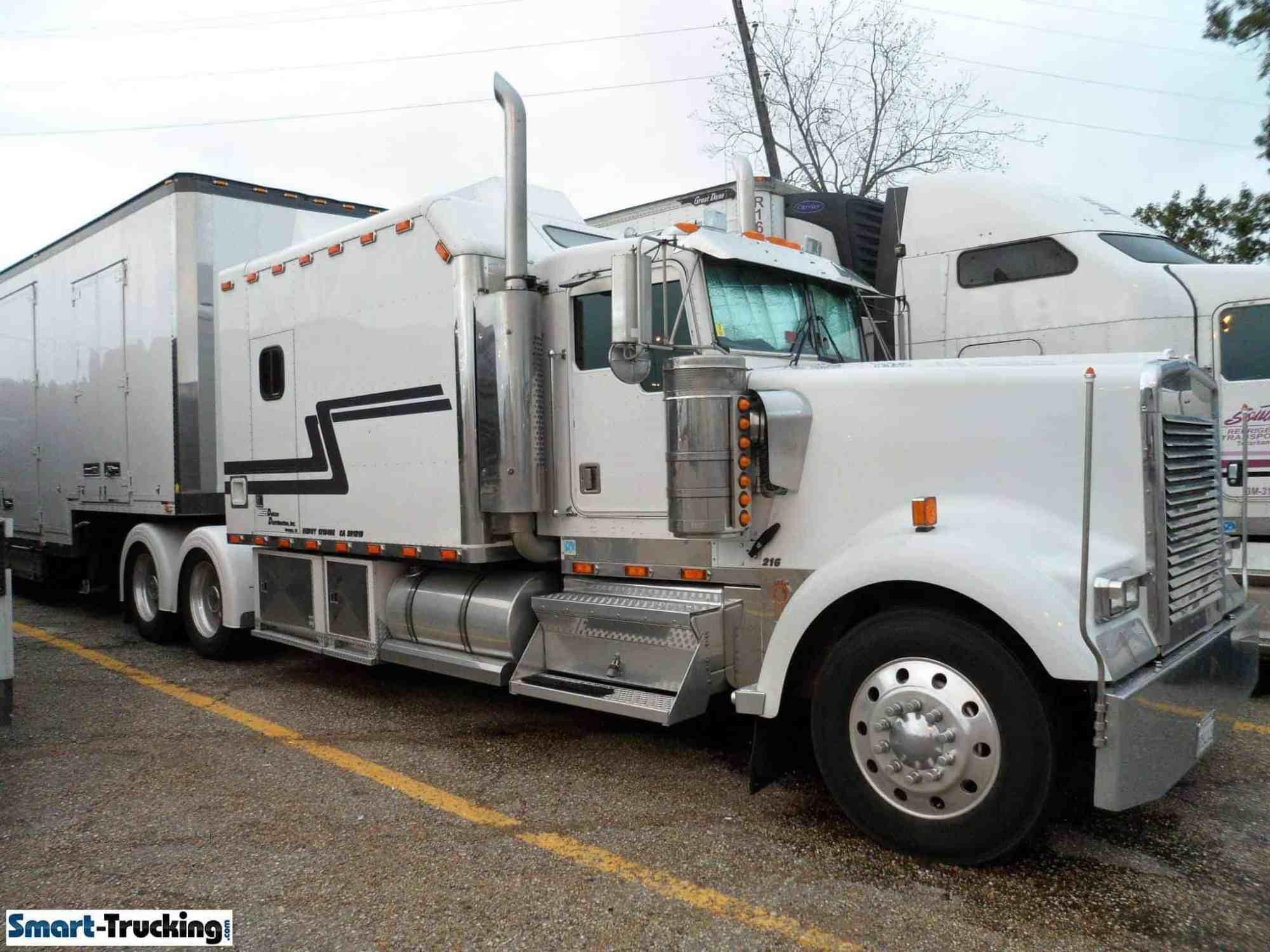 hight resolution of kenworth white custom w900 sleeper berth truck