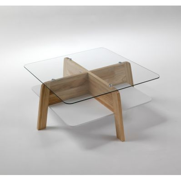 Scegli la consegna gratis per riparmiare di più. Tavolino Da Salotto Design Moderno In Legno E Vetro Winnipeg
