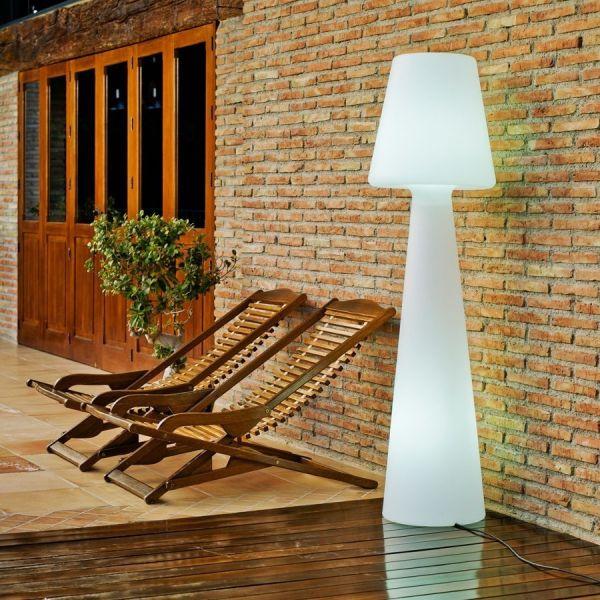 Lampada da esterno in polietilene piantana 165 cm Juditta