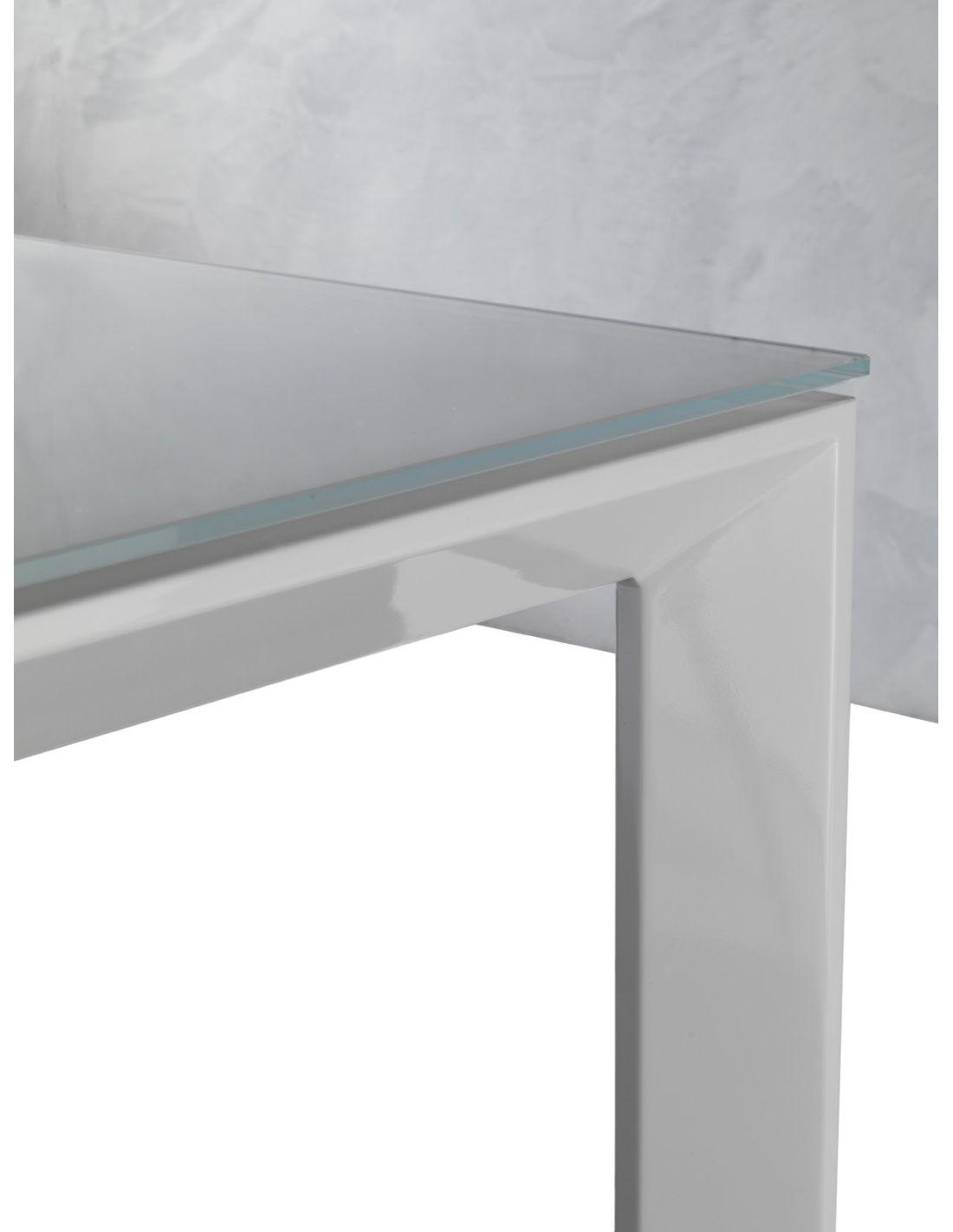 Tavolo in vetro allungabile Harvey per cucina o soggiorno