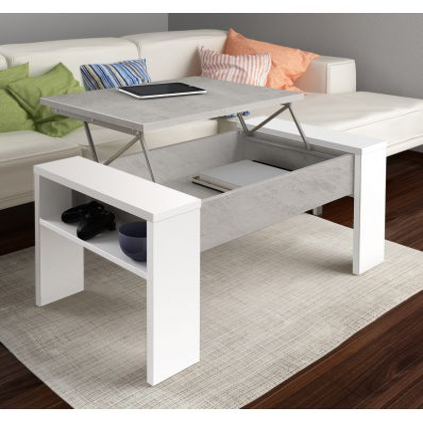 Tavolino da salotto con contenitore design moderno Garliz