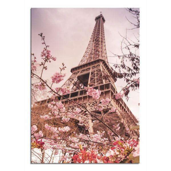 Canvas satinato premium con la migliore. Quadro Moderno Su Tela Per Soggiorno O Camera Torre Eiffel
