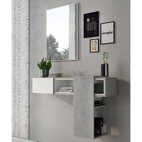 Set mobili ingresso design moderno scarpiera panca specchio appendiabiti casa. Mobili Da Ingresso Kerian Contenitore E Specchio Design Moderno Ebay