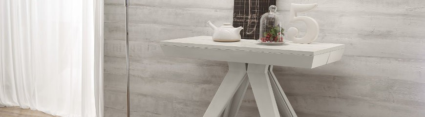 Tavoli consolle allungabili in vetro e in legno  Smart