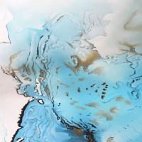 V38 Blue Gold Marble   abstract art, interior art, artwork ...