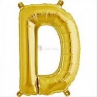 balon-folie-litera-d-auriu