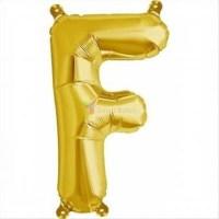 balon-folie-litera-f-auriu