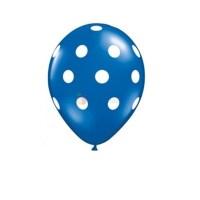 balon-latex-albastru-inchis-cu-buline-30cm