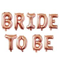 Mesaj text BRIDE TO BE rose gold