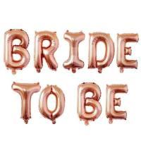 Mesaj text BRIDE TO BE rose gold