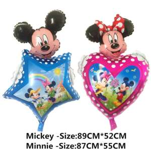 set baloane Mickey si Minnie Mouse