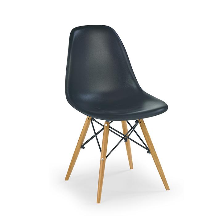Chaise Pieds Bois Design 3 Couleurs