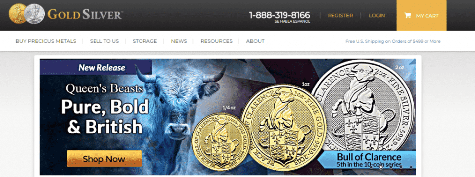 GoldSilver.com home website