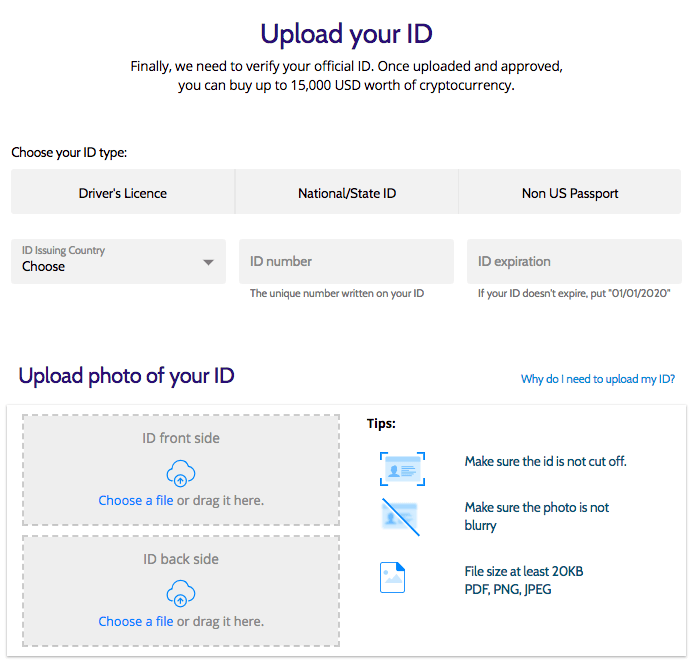 Verify Driver's License, National or State Identification, or Non-US Passport