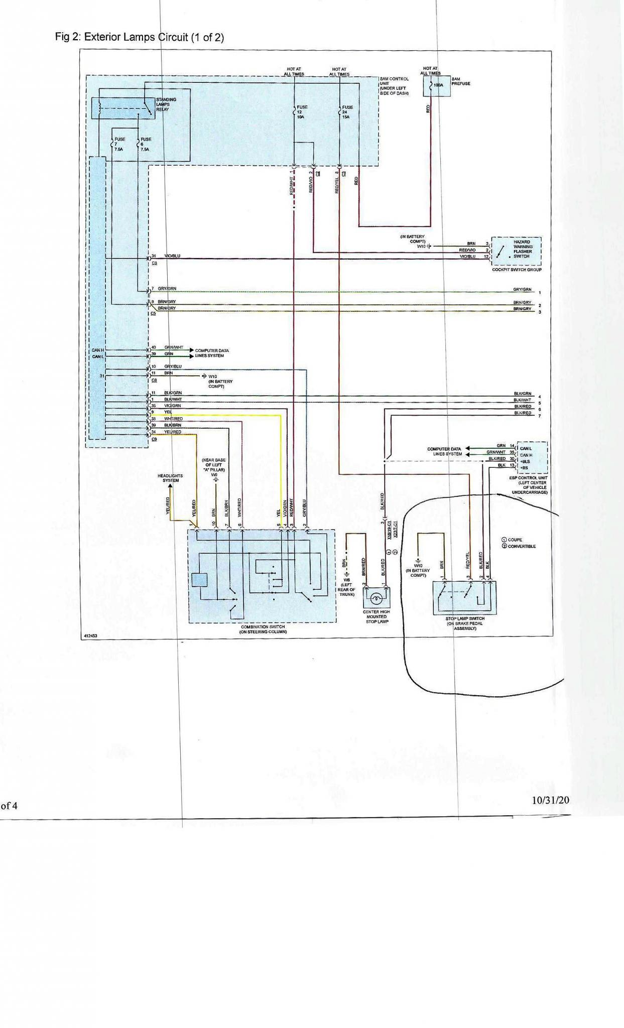 hight resolution of external lights wiring diagram smart car forums smart car wiring schematic