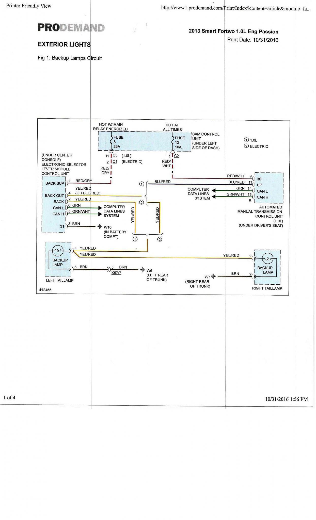 External Lights Wiring Diagram Smart Car Forums