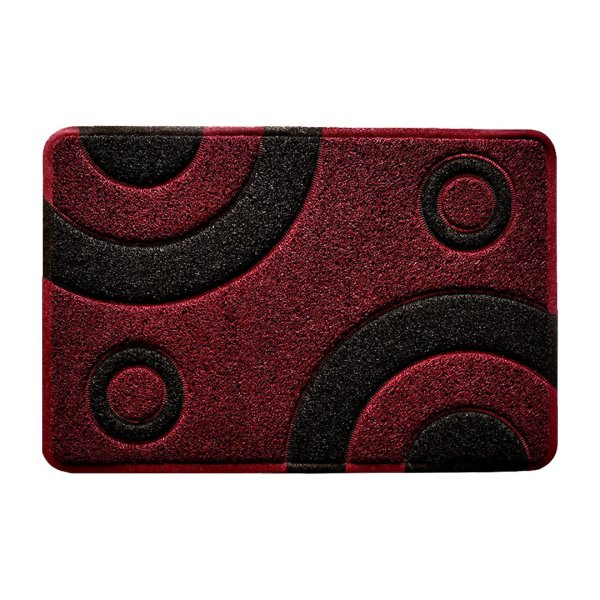 Smartcatcher-Mats-Bullseye-Collection-Waterproof-Kitchen-Mat-Doormat-Red Marsala Wine Black
